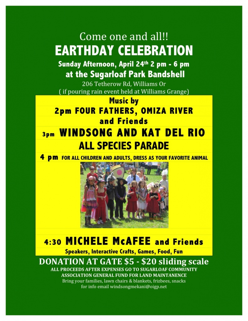 Earthday april 24 flyer